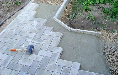 тротуарная плитка на бетон