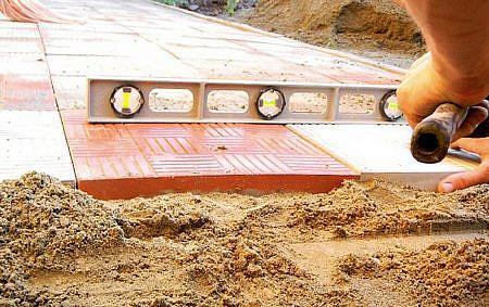 тротуарная плитка на песок