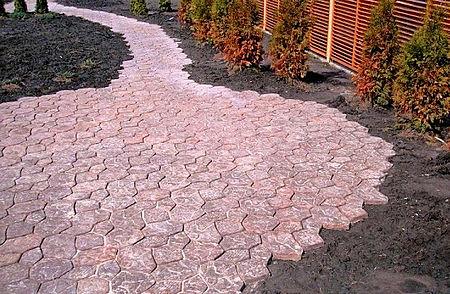 тротуарная плитка на грунт